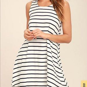 BB Dakota striped swing dress